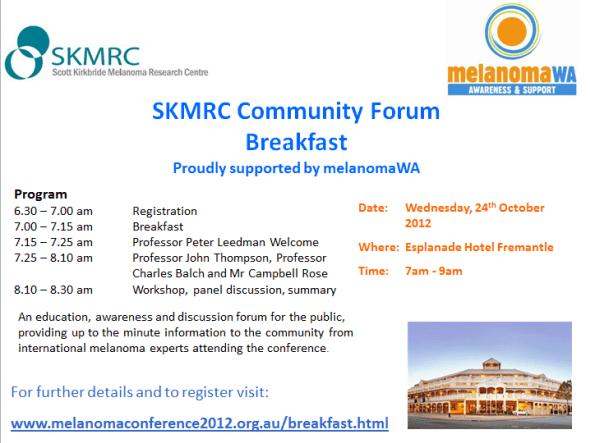 SKMRC Inaugural Melanoma Conference