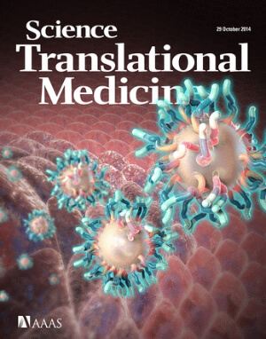 V. Altounian, C. Bickel/Science Translational Medicine A report on the first human clinical trial of C Dots is featured on the Oct. 29 cover of the journal Science Translational Medicine. source: Cornell Chronicle