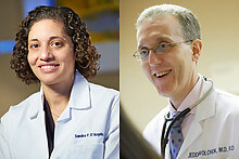 Medical oncologists Sandra D'Angelo and Jedd Wolchok